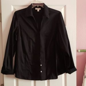 Cold water Creek Black blouse